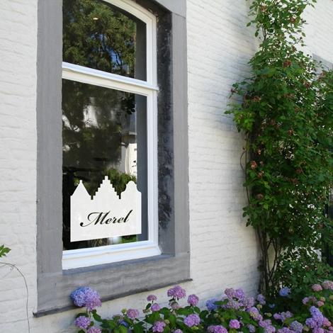 Geboortestickers Dutch houses