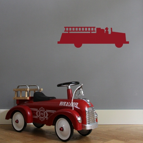 Interieurstickers Fire truck