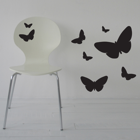 Interieurstickers Butterfly set